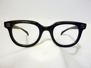 Vintage Arnel Style Men's Eyeglass Frames by Kono called Brute in Black