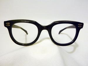 Vintage Arnel Style Men's Eyeglass Frames by Kono called Brute in Black