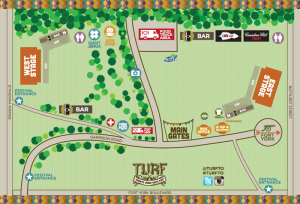Toronto Urban Roots Festival Site Map