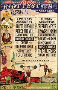 Riot Fest Toronto Line Up