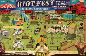 Riot Fest Toronto Map
