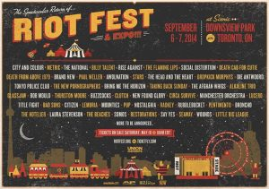 RIOT FEST & EXPO ANNOUNCES TORONTO 2014 LINE-UP (SEPTEMBER 6-7 AT DOWNSVIEW PARK)